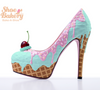 "Baked and Ready Mint Chip Ice Cream Heels  sz 8 5.5"" Heel Height"