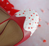Heart Sprinkle Flats- Red