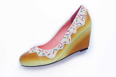 White Sprinkle Wedge