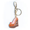Triple Chocolate Cake Wedge Keychain