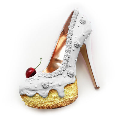 Wedding White Cake Heels