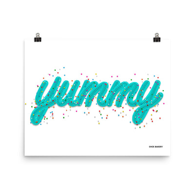 Yummy Sprinkle Teal/White Poster
