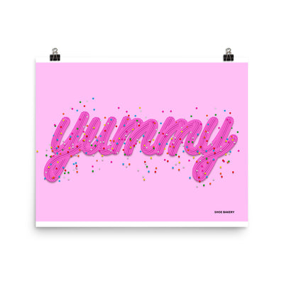 Yummy Sprinkle Pink/Pink Poster