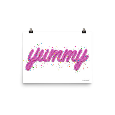 Yummy Sprinkle Pink/White Poster