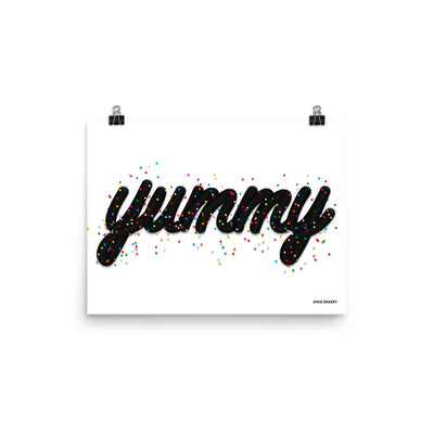 Yummy Sprinkle Black/White Poster