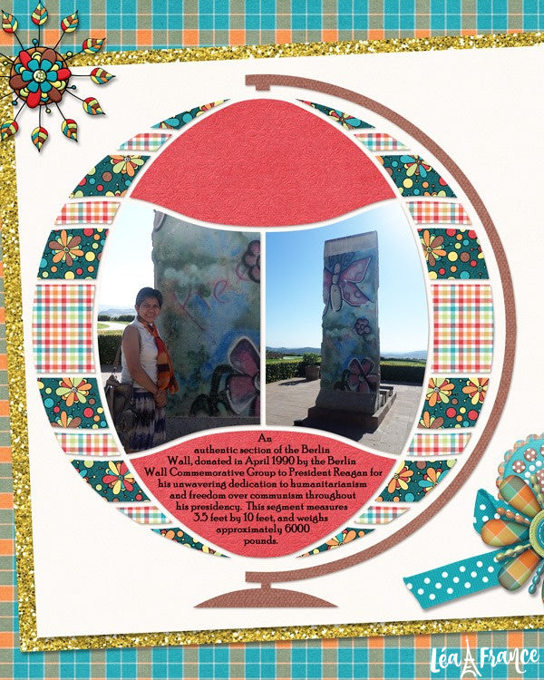 Magical Sphere Digital Léa France® Scrapbook Template 9