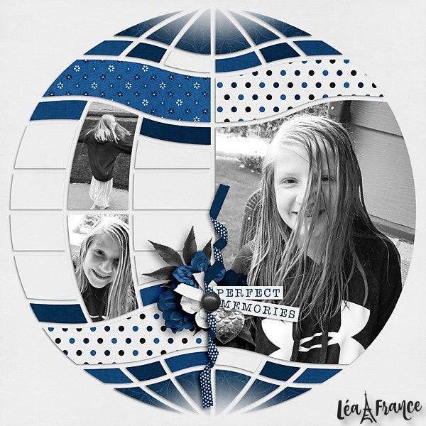 Magical Sphere Digital Léa France® Scrapbook Template 3