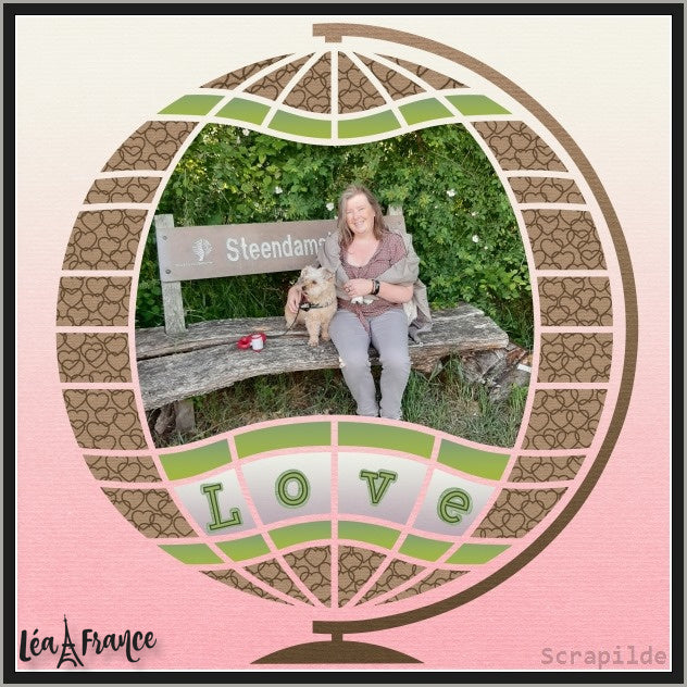 Magical Sphere Digital Léa France® Scrapbook Template 2