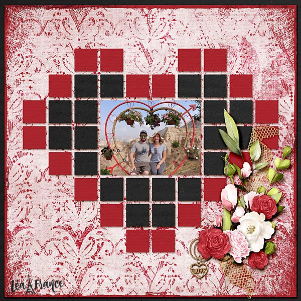 Grid Digital Léa France® Scrapbook Template 8