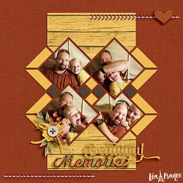 Card Tricks Digital Léa France® Scrapbook Template 4