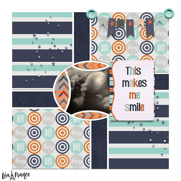 Fan-Tasy Digital Léa France® Scrapbook Template 6
