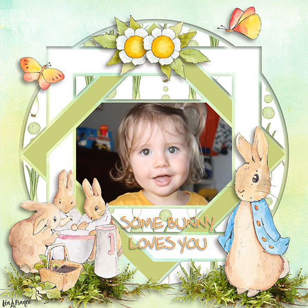 Country Patches 11 Digital Léa France® Scrapbook Template