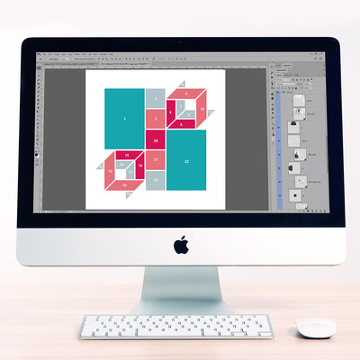 3D Cubes 3 Digital Scrapbook Template