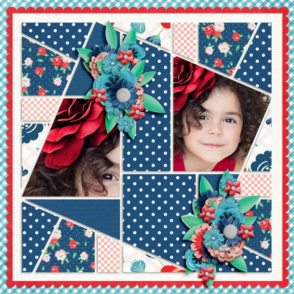 Seventeen 4 Digital Léa France® Scrapbook Template