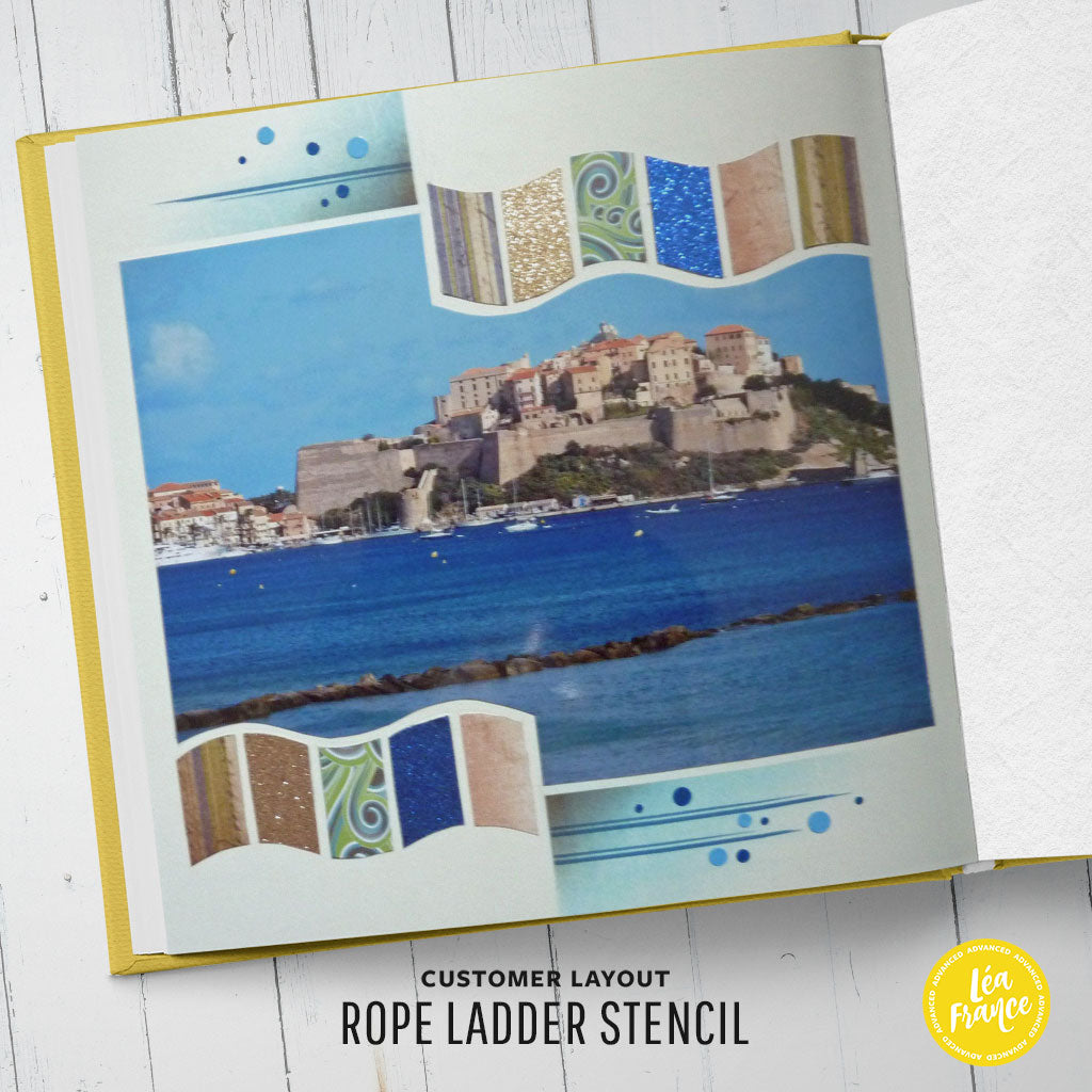 Rope Ladder Overlay Léa France® Stencil