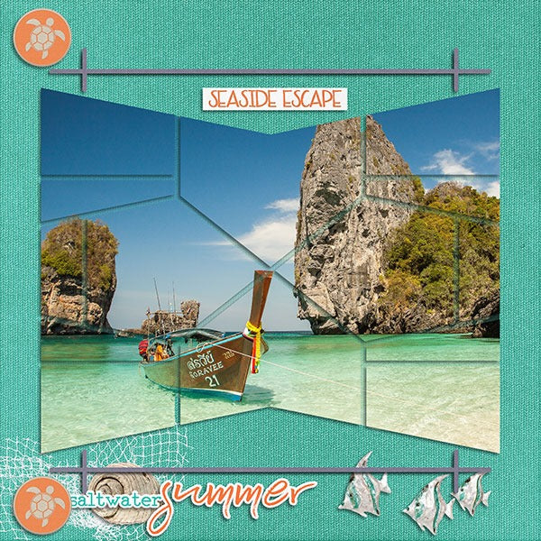 Amphora 8 Digital Léa France® Scrapbook Template