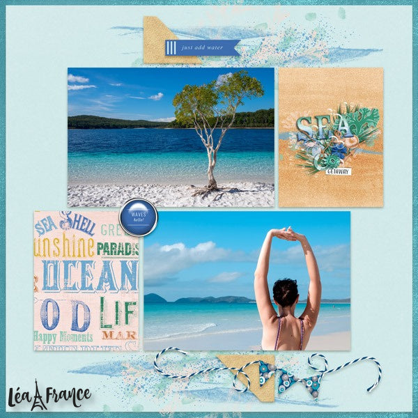 Patchwork Digital Léa France® Scrapbook Template 5
