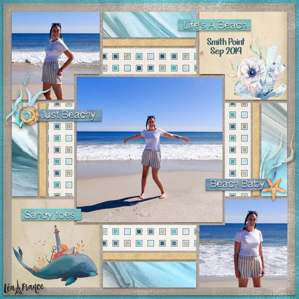 Patchwork Digital Scrapbook Template 1