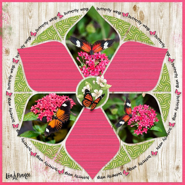 Rosette Digital Scrapbook Template 4