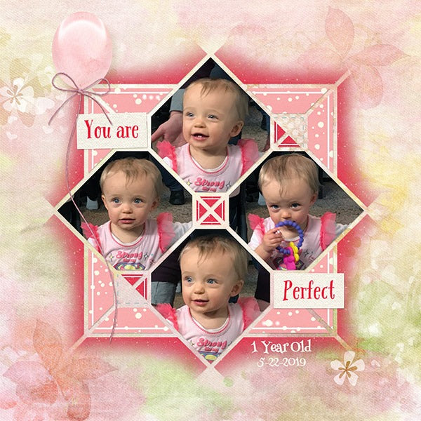 Country Patches 1 Digital Scrapbook Template