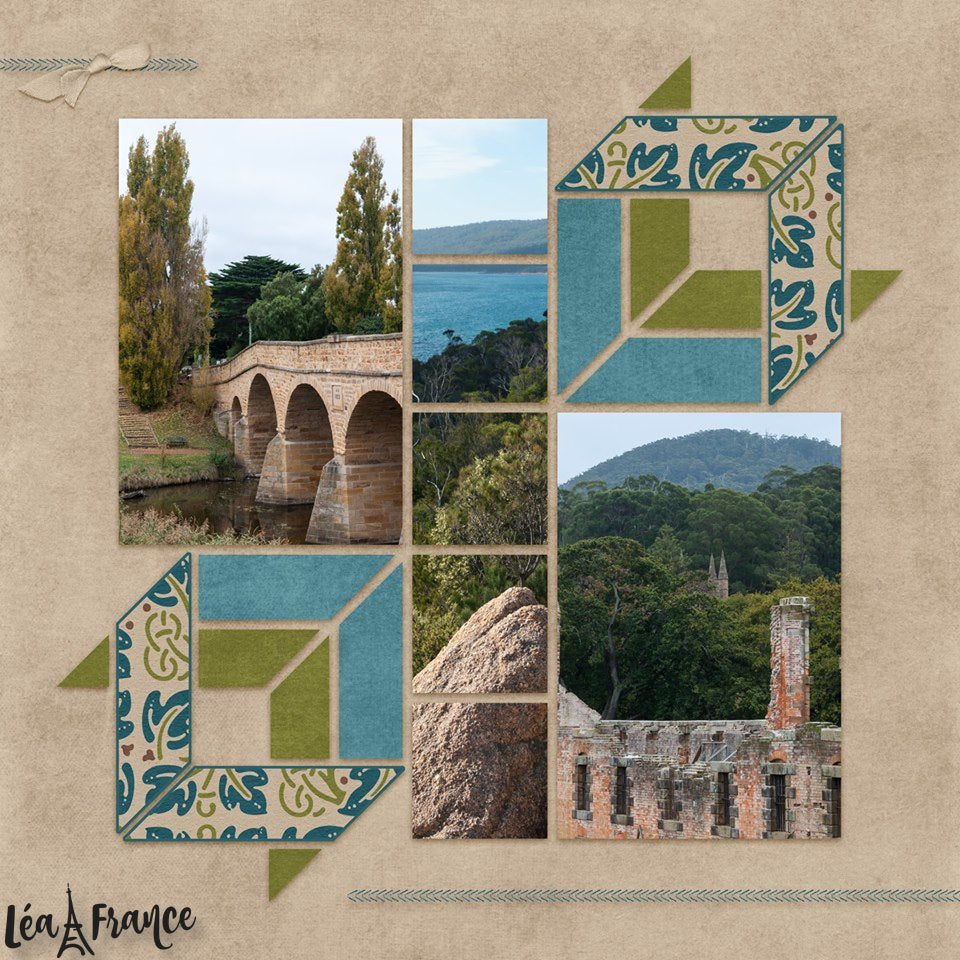 3D Cubes 3 Digital Léa France® Scrapbook Template