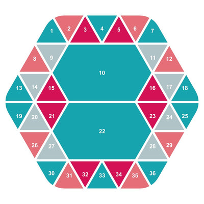 Hexagon Digital Scrapbook Template 2