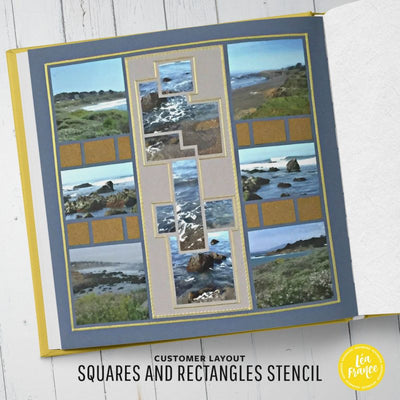 Squares & Rectangles Overlay Stencil