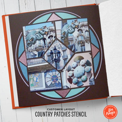 Country Patches Stencil