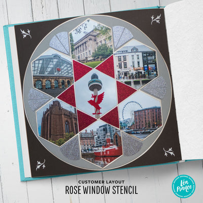 Rose Window Stencil