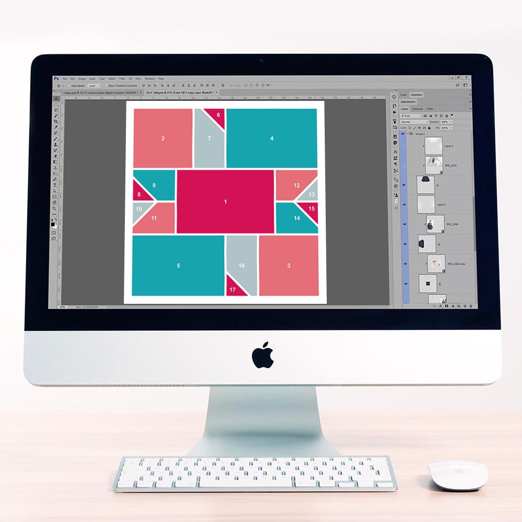 Patchwork Digital Scrapbook Template 2