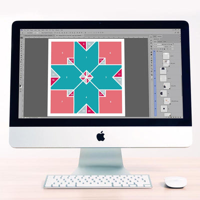 Patchwork Digital Scrapbook Template 3