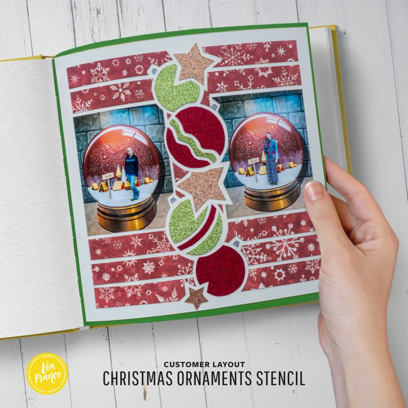 Christmas Ornaments Overlay Stencil