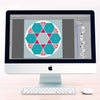 Rose Window Digital Léa France® Scrapbook Template 2