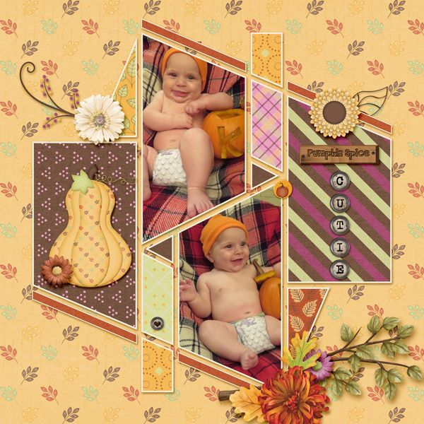 Seventeen 1 Digital Scrapbook template