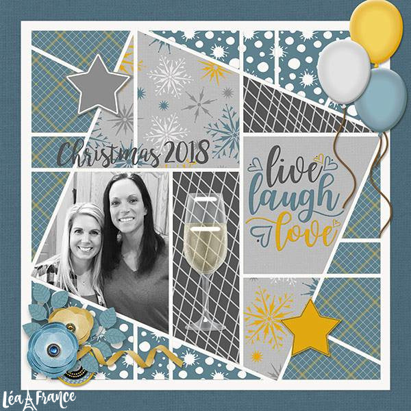 Seventeen 4 Digital Scrapbook Template