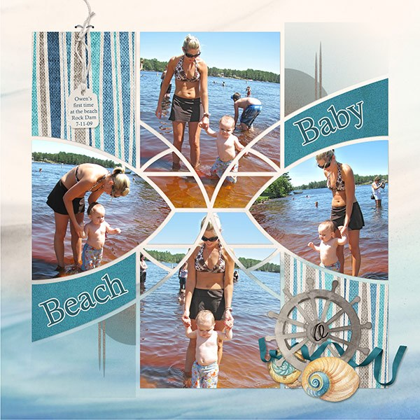 Arches 3 Digital Léa France® Scrapbook Template
