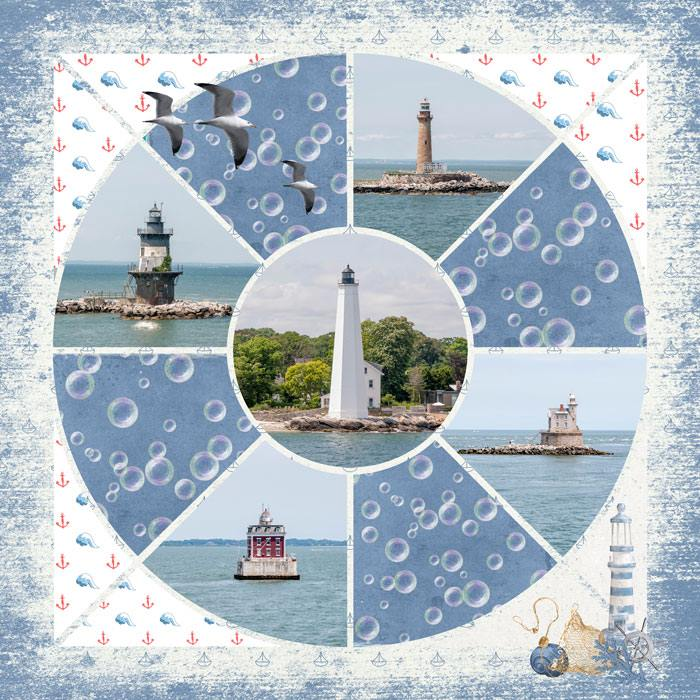 Compass 2 Digital Léa France® Scrapbook Template