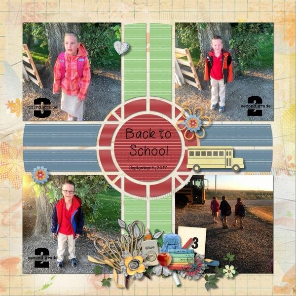 Compass 1 Digital Scrapbook Template