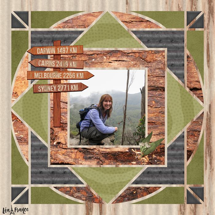 Country Patches 5 Digital Scrapbook Template