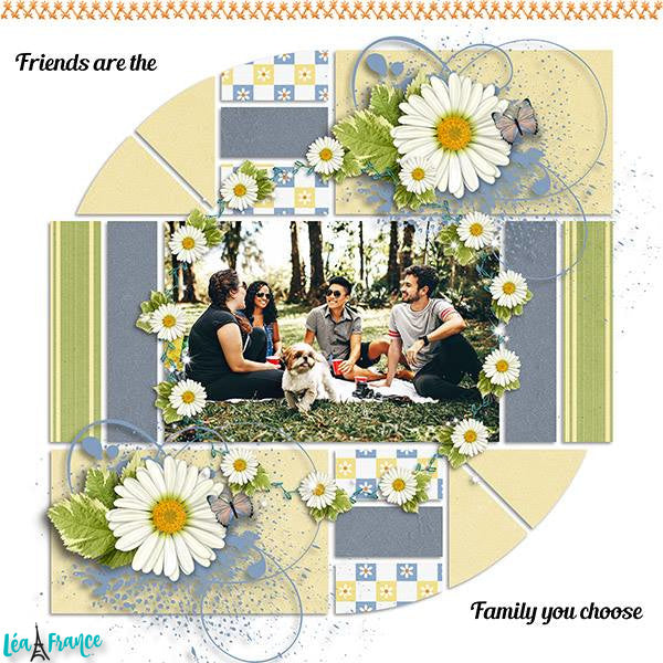 Country Patches 3 Digital Léa France® Scrapbook Template