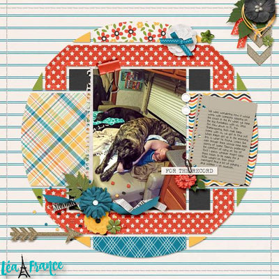 Country Patches 6 Digital Scrapbook Template