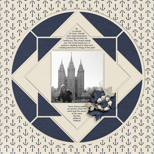 Country Patches 8 Digital Scrapbook Template