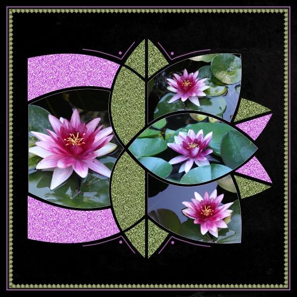 Kaleidoscope 3 Digital Scrapbook Template