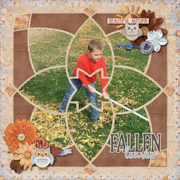 Kaleidoscope 4 Digital Scrapbook Template