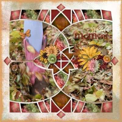 Kaleidoscope 6 Digital Scrapbook Template