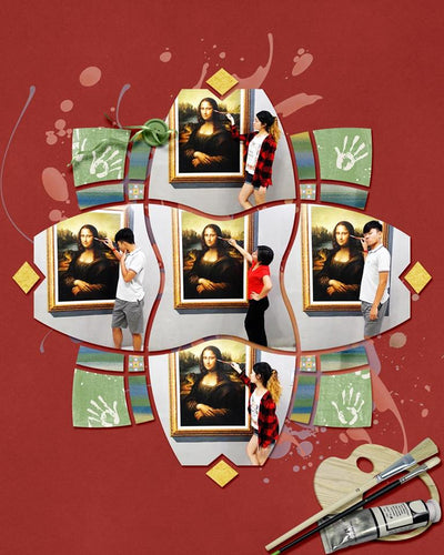 Kaleidoscope 7 Digital Scrapbook Template