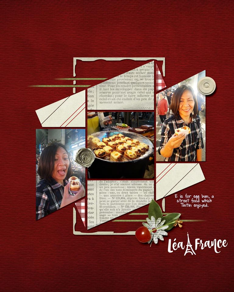 Seventeen 7 Digital Léa France® Scrapbook Template