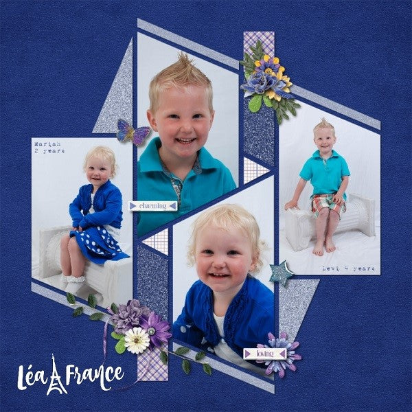 Seventeen 1 Digital Léa France® Scrapbook template