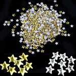 Nail Art 250 Pieces Gold Silver 5mm Star Metal Studs for Nails Phone Decoration