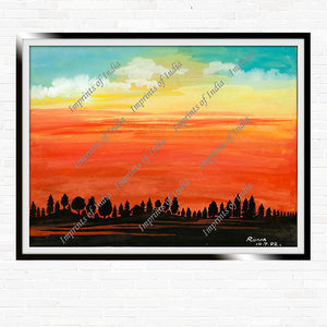 Sunset (Runa) - Classic Artwork, Art Print, Canvas Print, Home Decor, Wall Art